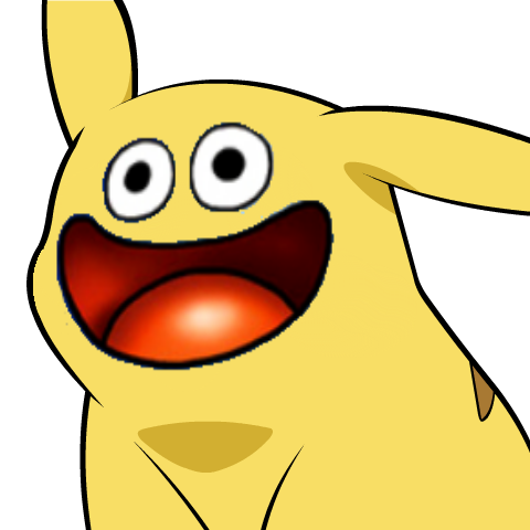 Pikachu_Face_Slime.png - Pikachu Face PNG