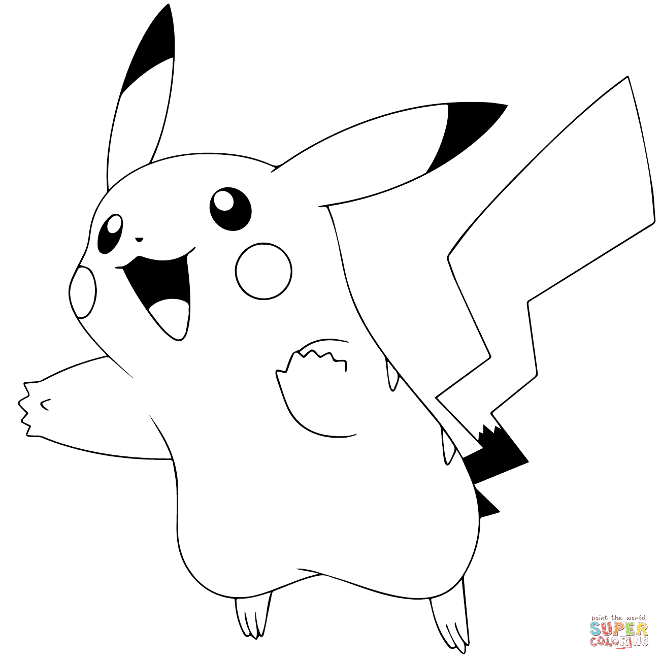 Click the Pokémon GO Pikachu #025 PlusPng.com  - Pikachu PNG Black And White