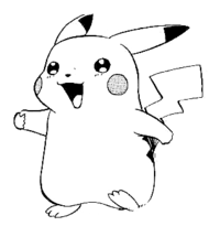 Pikachu PNG Black And White