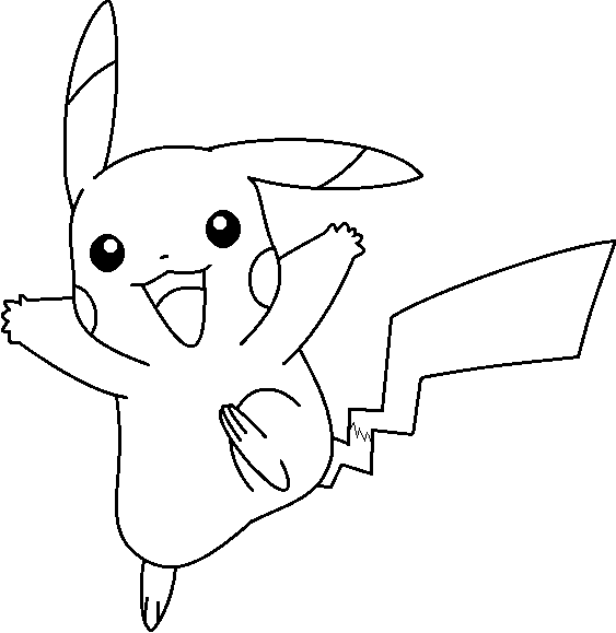 Pikachu Base 5 by Electric-Rodent PlusPng.com  - Pikachu PNG Black And White
