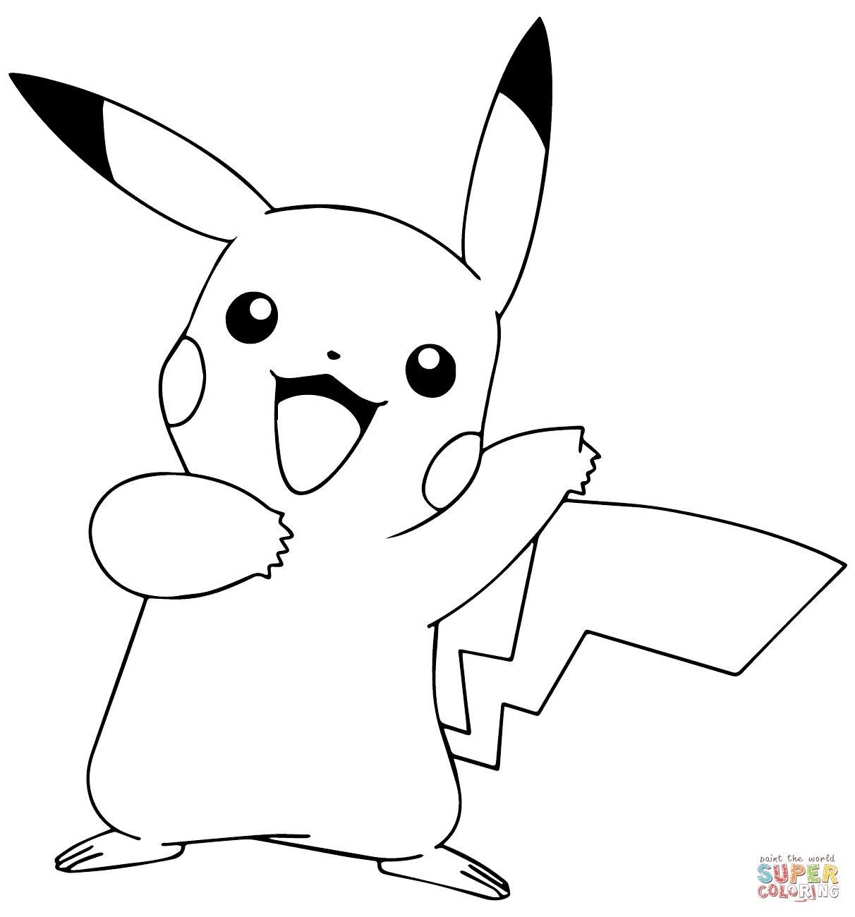 Pikachu from Pokémon GO - Pikachu PNG Black And White