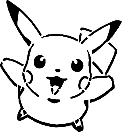 pikachu stencil for our pumpkin carving - Pikachu PNG Black And White