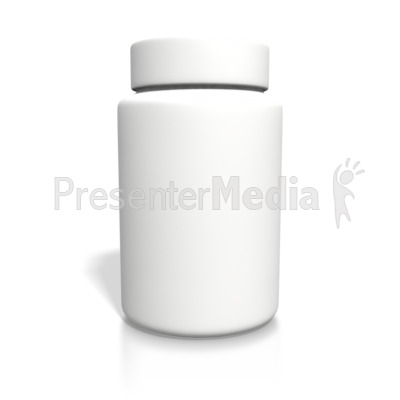 Blank White Bottle PowerPoint Clip Art - Pill Bottle PNG HD
