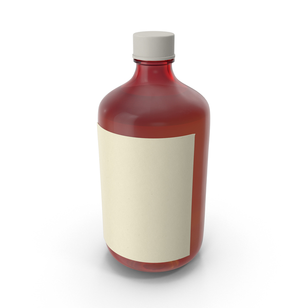 Cough Syrup Bottle - Pill Bottle PNG HD