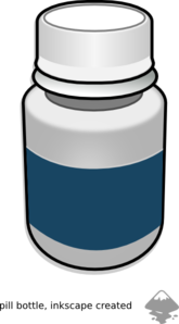 Medicine Pills Bottle Clip Art - PNG Medicine Bottle - Pill Bottle PNG HD