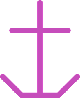 Anchor, Anchorage, Marine, Vessel - Pink Anchor With Rope PNG