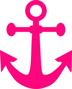 Free Pink Anchor Clip Art - Pink Anchor With Rope PNG