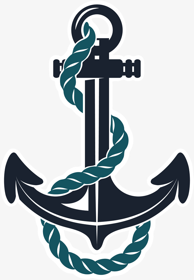 hand painted black anchor rope, Simple, Arrow, Black Anchor PNG Image and  Clipart - Pink Anchor With Rope PNG