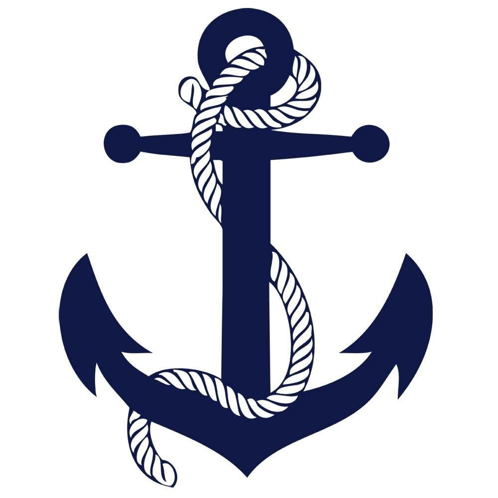 Sailors Rope and Anchor Boys Room Vinyl Wall Art Decal Sticker. $11.99, via  Etsy. - Pink Anchor With Rope PNG