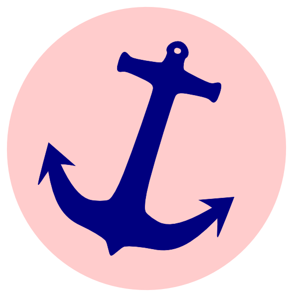 Simple Anchor | Pink Anchor clip art - vector clip art online, royalty free  u0026 - Pink Anchor With Rope PNG