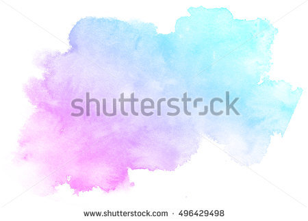 Abstract pink watercolor on white background.The color splashing on the  paper.It is - Pink And Blue PNG