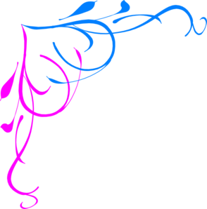 Blue Pink Border Clip Art - Pink And Blue PNG