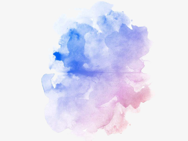 blue watercolor, Blue, Pink, Rendering PNG Image and Clipart - Pink And Blue PNG