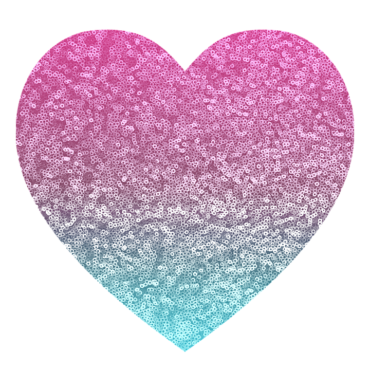 glitter pink blue heart sparkle light shiny - Pink And Blue PNG
