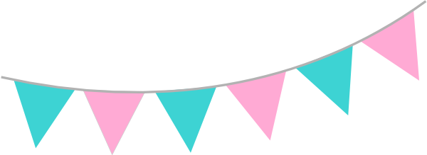 Pink Teal Bunting Clip Art at Clker pluspng.com - vector clip art online, royalty  free u0026 public domain - Pink And Blue PNG