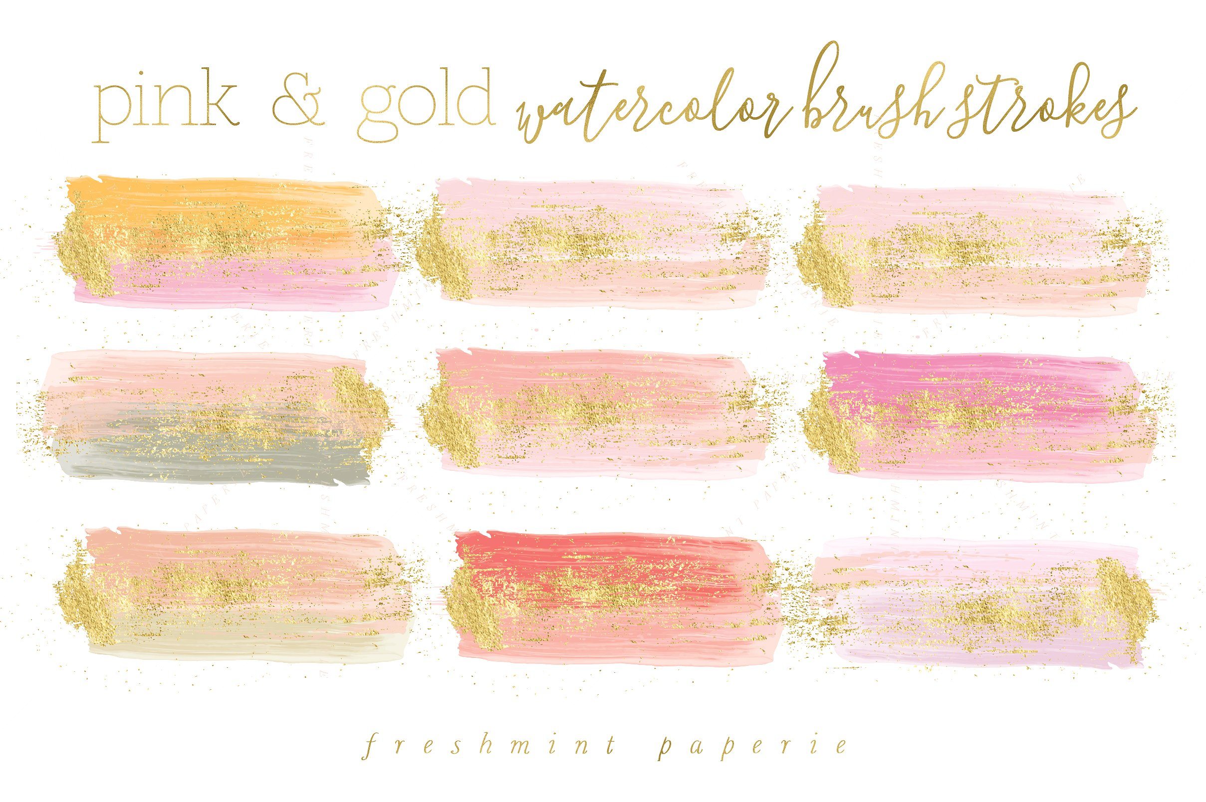 Pink And Gold PNG - 159941