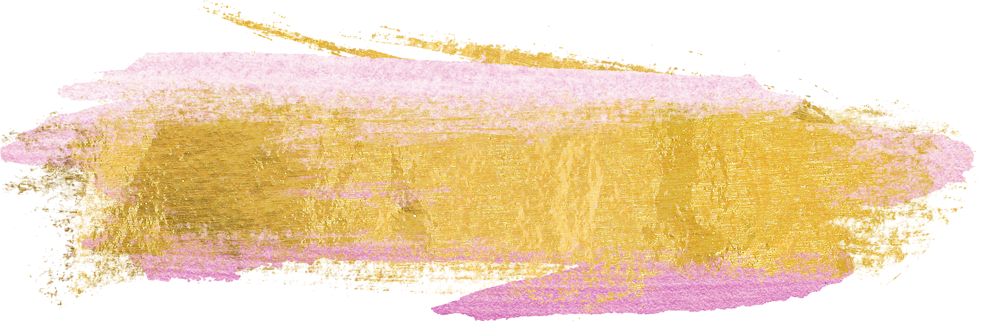 Free Gold Paint Brush Strokes -CU ok! - Pink And Gold PNG
