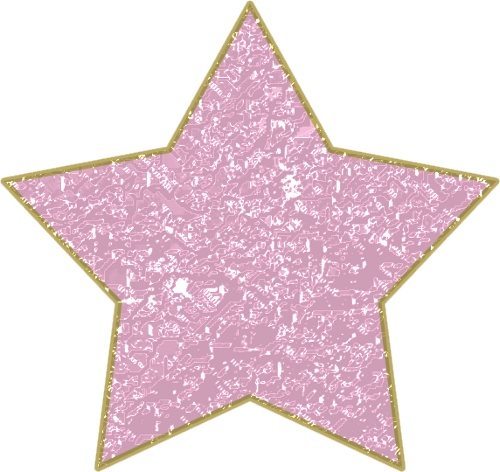 Pink Star with Gold Trim PNG by clipartcotttage PlusPng.com  - Pink And Gold PNG