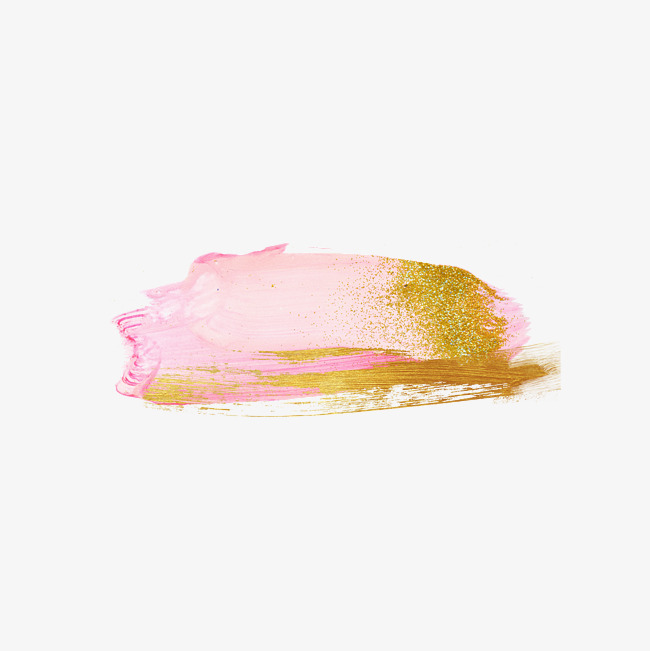 powder gold brush, Ink, Brush Pink, Gold PNG Image and Clipart - Pink And Gold PNG