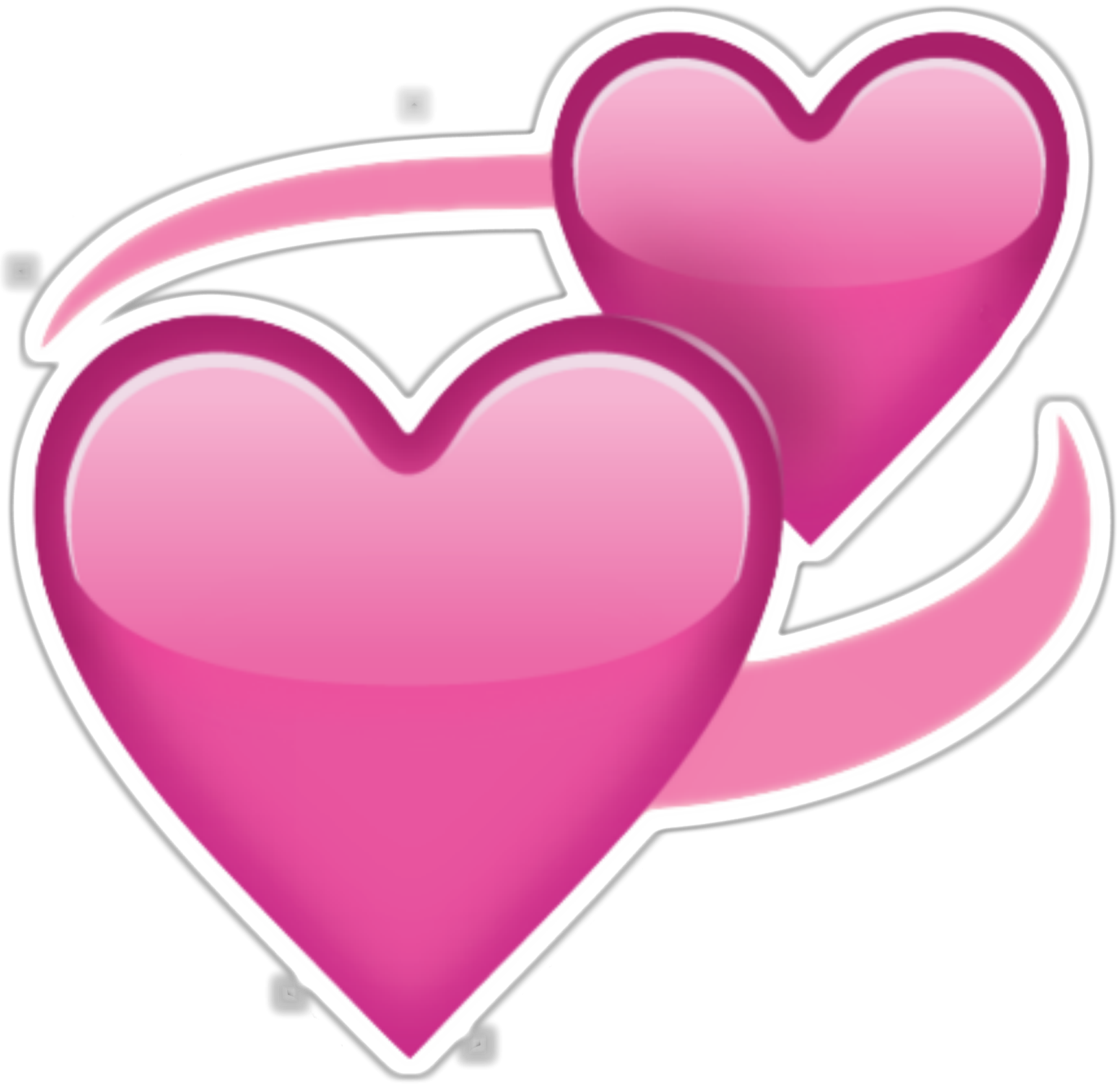 Pink Love Heart PNG HD - 122342