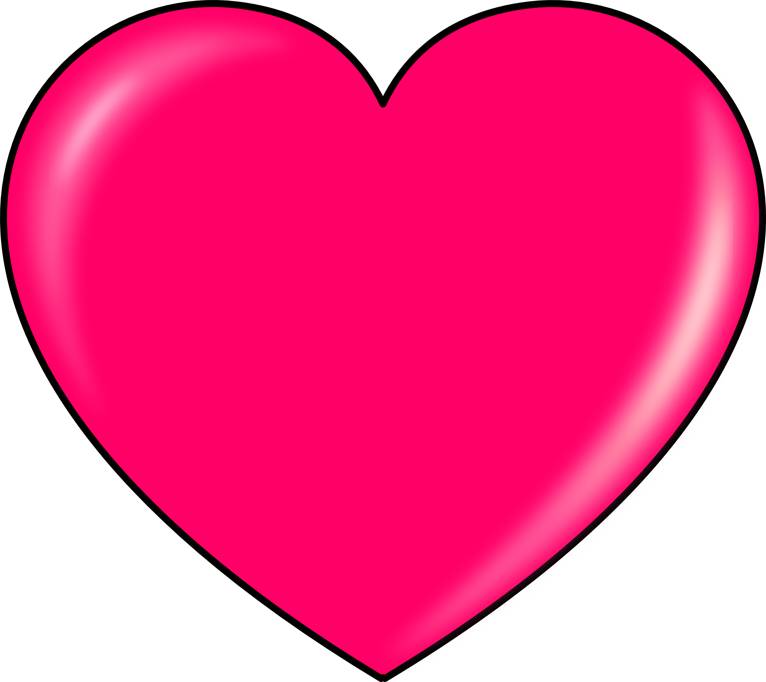 Pink Love Heart PNG HD - 122337