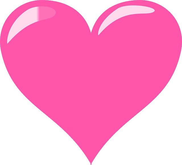 Pink Love Heart PNG HD - 122346