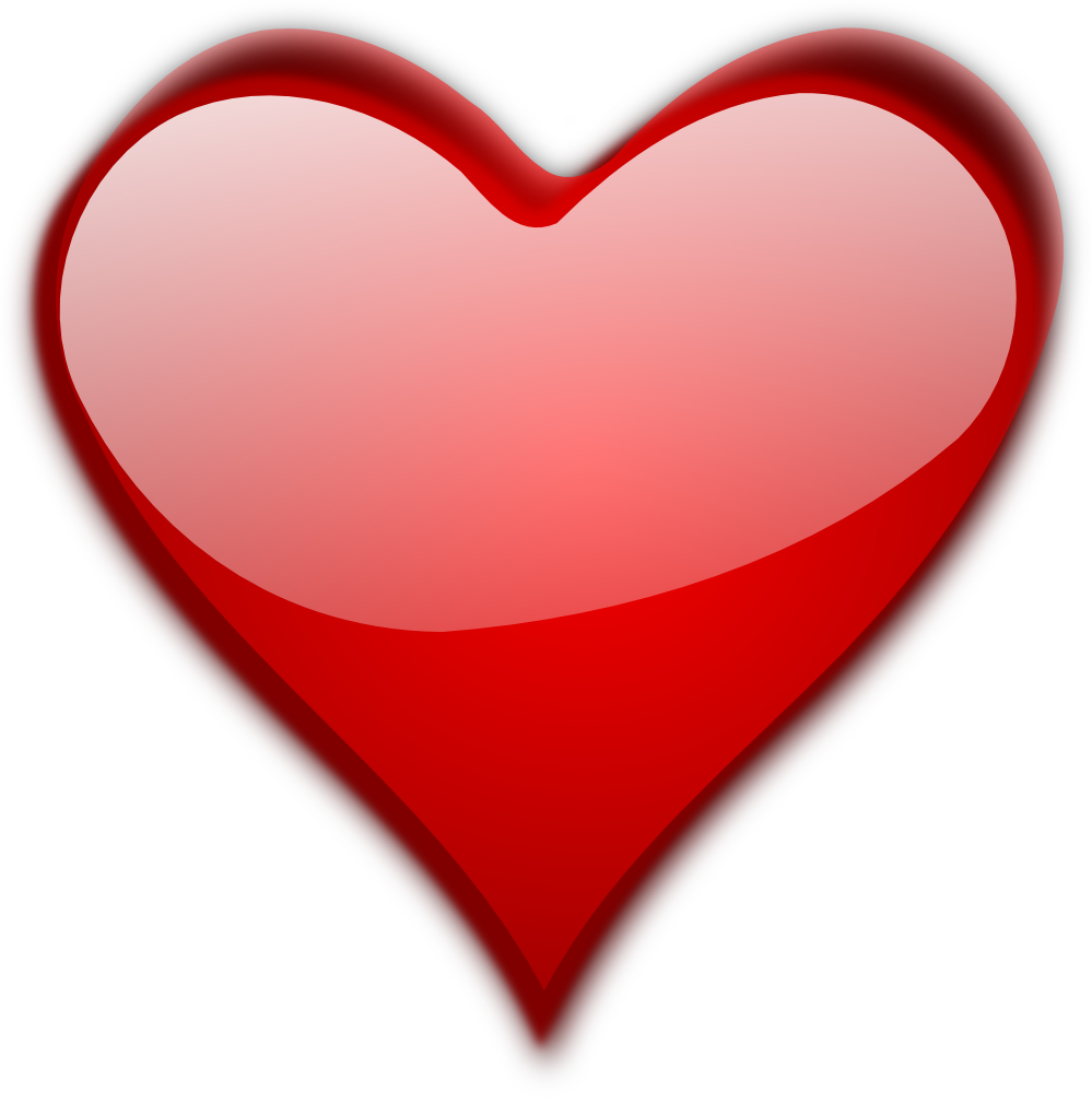 Pink Love Heart PNG HD - 122348