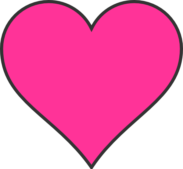 Heart-shaped clipart pink #2 - Pink Love Heart PNG HD