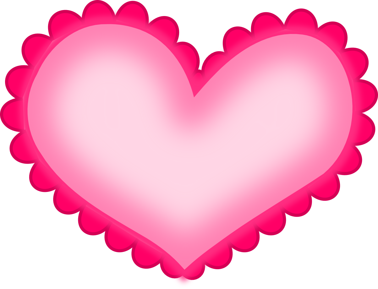 Pink Love Heart PNG HD - 122338
