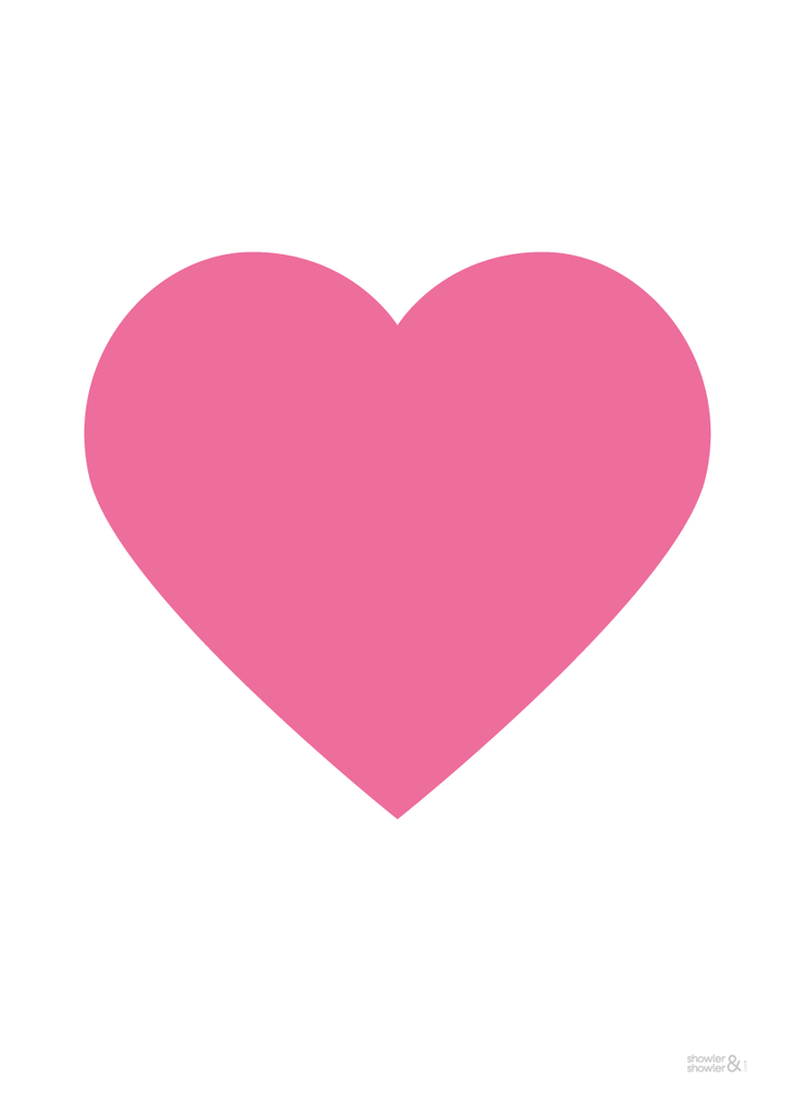 Love Doves Print (in Pink) - Pink Love Heart PNG HD