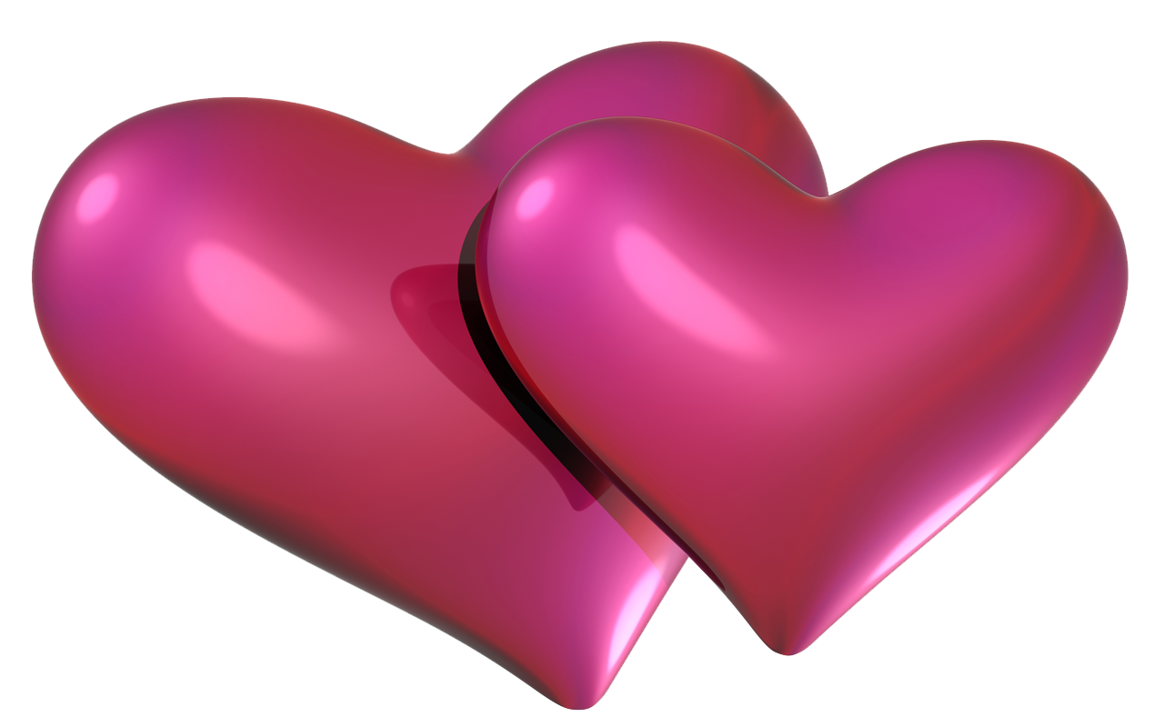 Pink Love Heart PNG HD - 122347