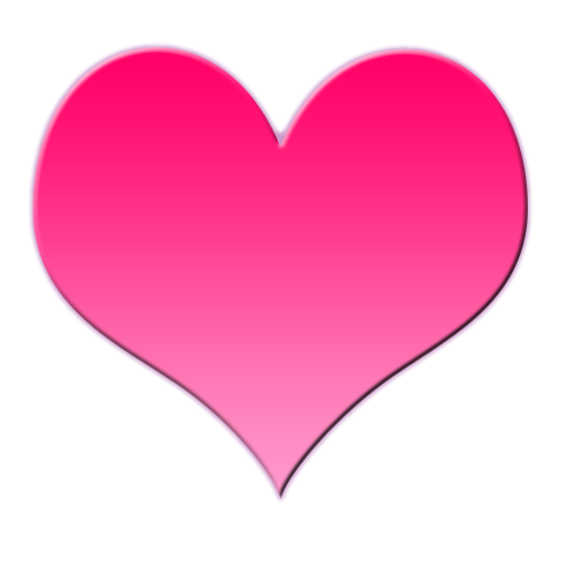 Pink Love Heart PNG HD - 122340