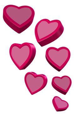 Pink Hearts PNG Clipart Picture - Pink Love Heart PNG HD