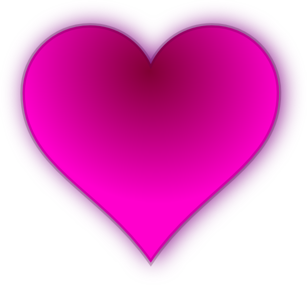 Pink Love Heart PNG HD - 122341