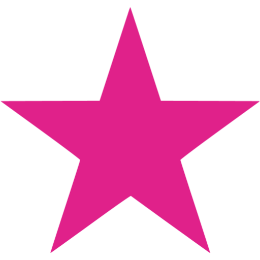 Pink Star PNG HD - 147214