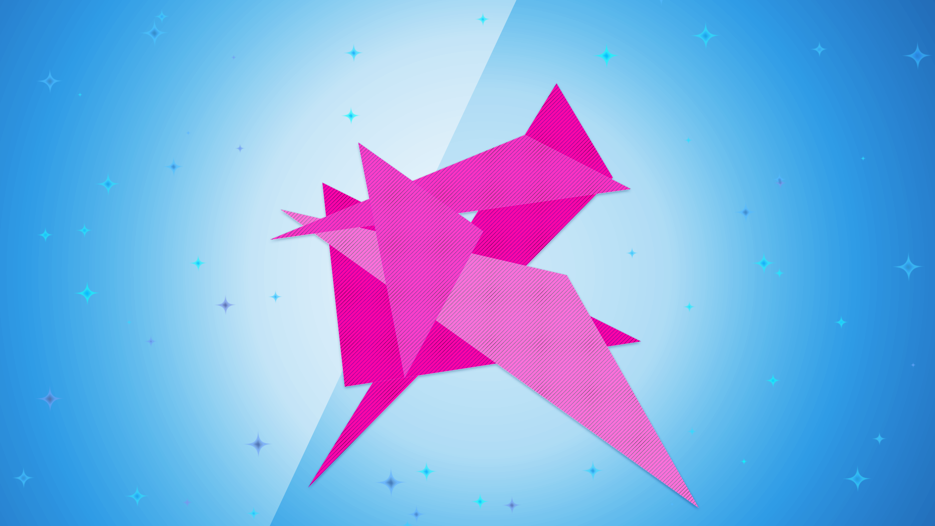 Abstract - Artistic Funny Light Pink Geometry Stars Shapes Origami Wallpaper - Pink Star PNG HD