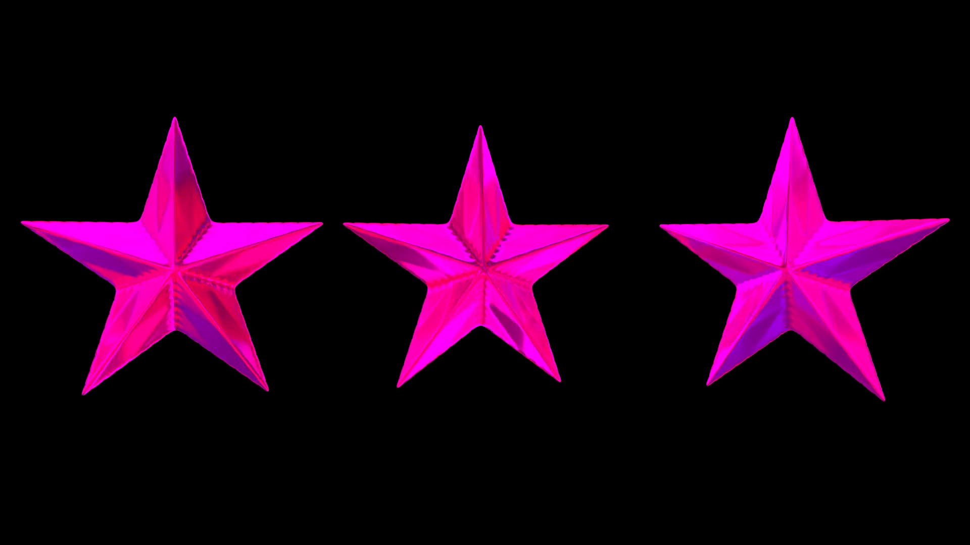 Animated spinning three shinning pink or magenta stars against transparent  background. Alpha channel embedded with PNG file. Loop able and isolated. - Pink Star PNG HD