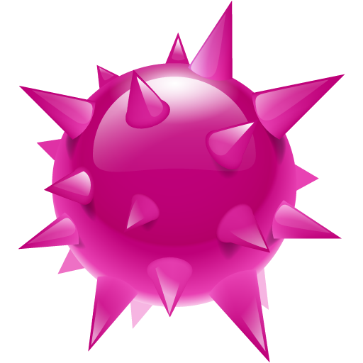 Download PNG image - Virus Png Hd 478 - Pink Star PNG HD