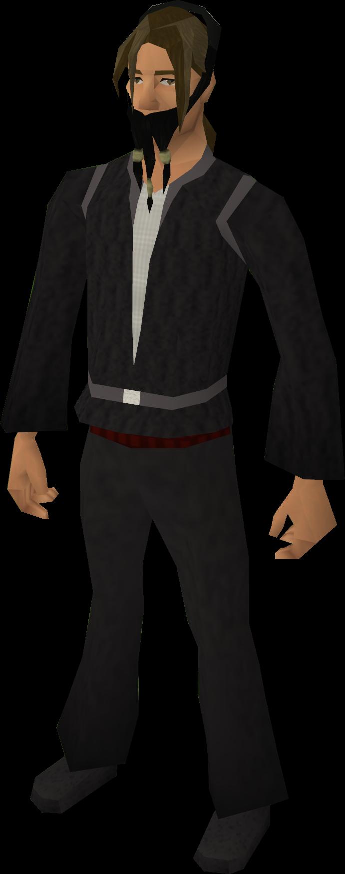 Fake Pirate Beard (black) Equipped.png - Pirate Beard PNG