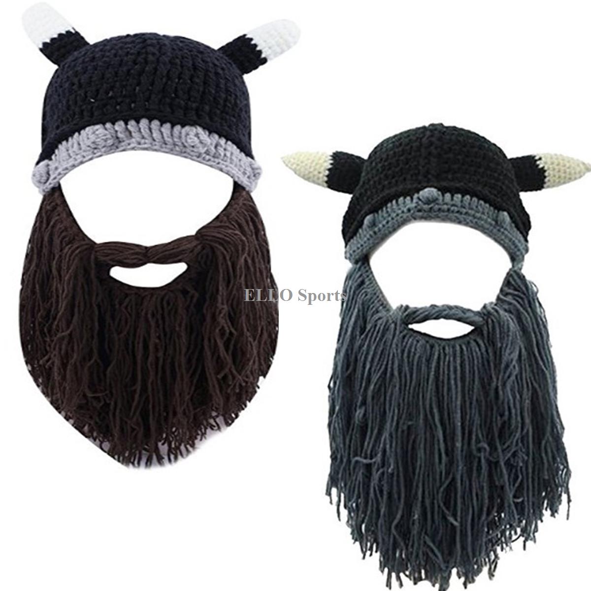 Men Women Winter Barbarian Viking Pirate Beard Mustache Beanie Knit Hat  Mask Cap - Pirate Beard PNG