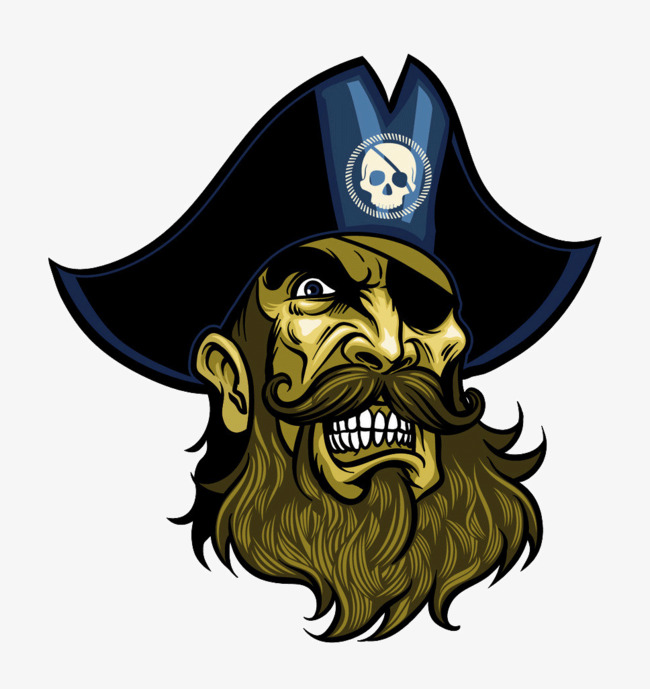 Pirate Avatar, Pirate, Head Portrait, Beard PNG Image and Clipart - Pirate Beard PNG