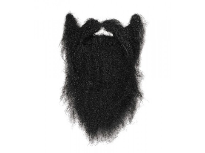 Taliban Character Beard Male Fancy Dress Costume Accessory - Black - Pirate Beard PNG