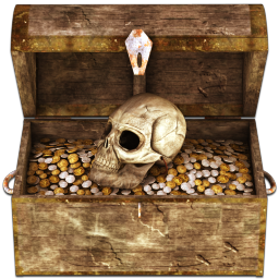 Pirate Treasure Chest PNG HD