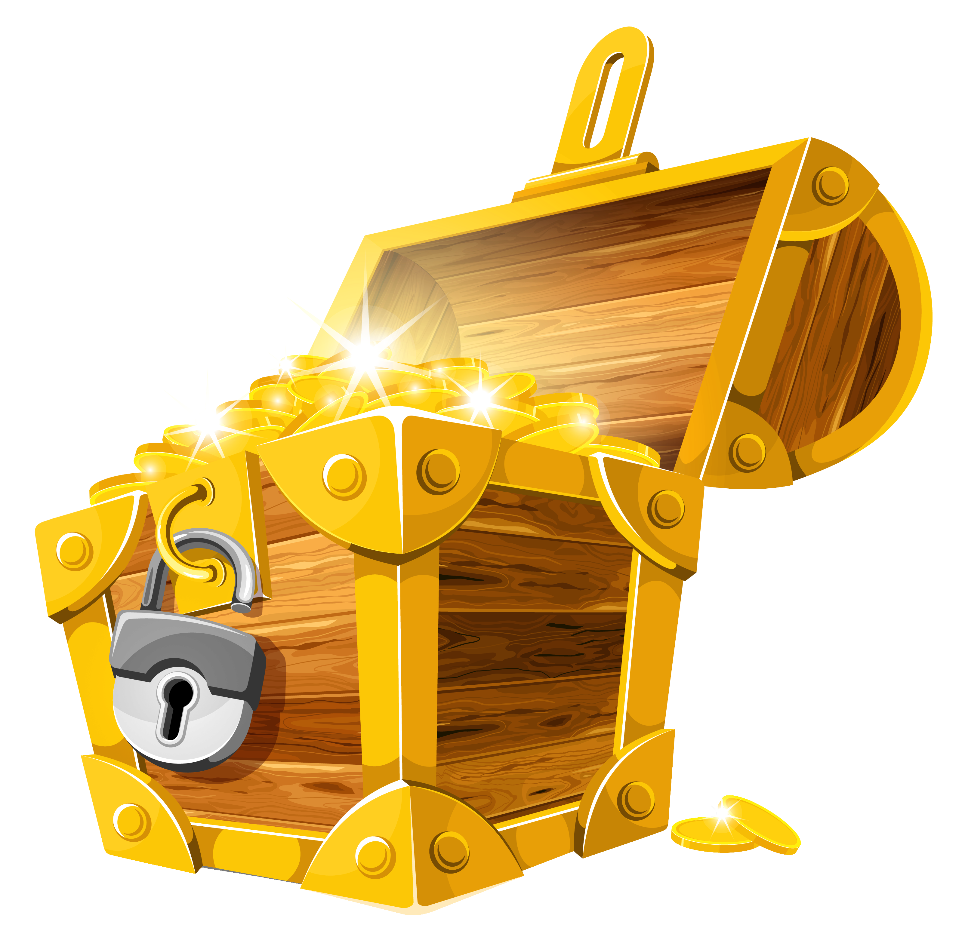 Pirate Treasure Chest PNG HD - 127745