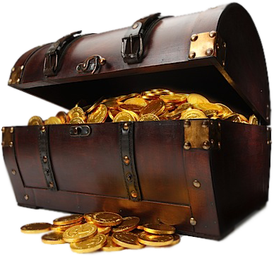 Share This Image - Pirate Treasure Chest PNG HD