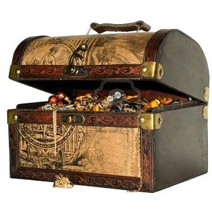 Treasure Chest - Blue-herring - Pirate Treasure Chest PNG HD