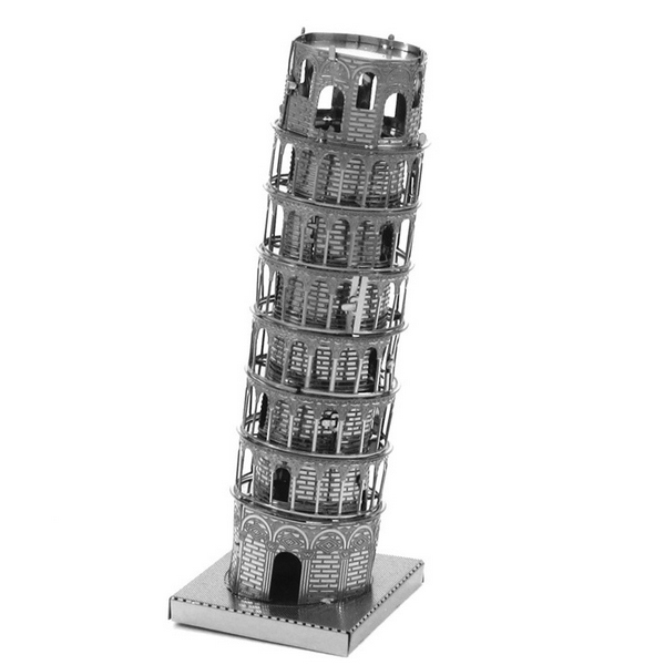 Aipin DIY 3D Puzzle Stainless Steel Assembled Model The Leaning Tower Of  Pisa - Pisa Tower PNG