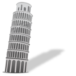 Download PNG | 256px Download ICO - Pisa Tower PNG