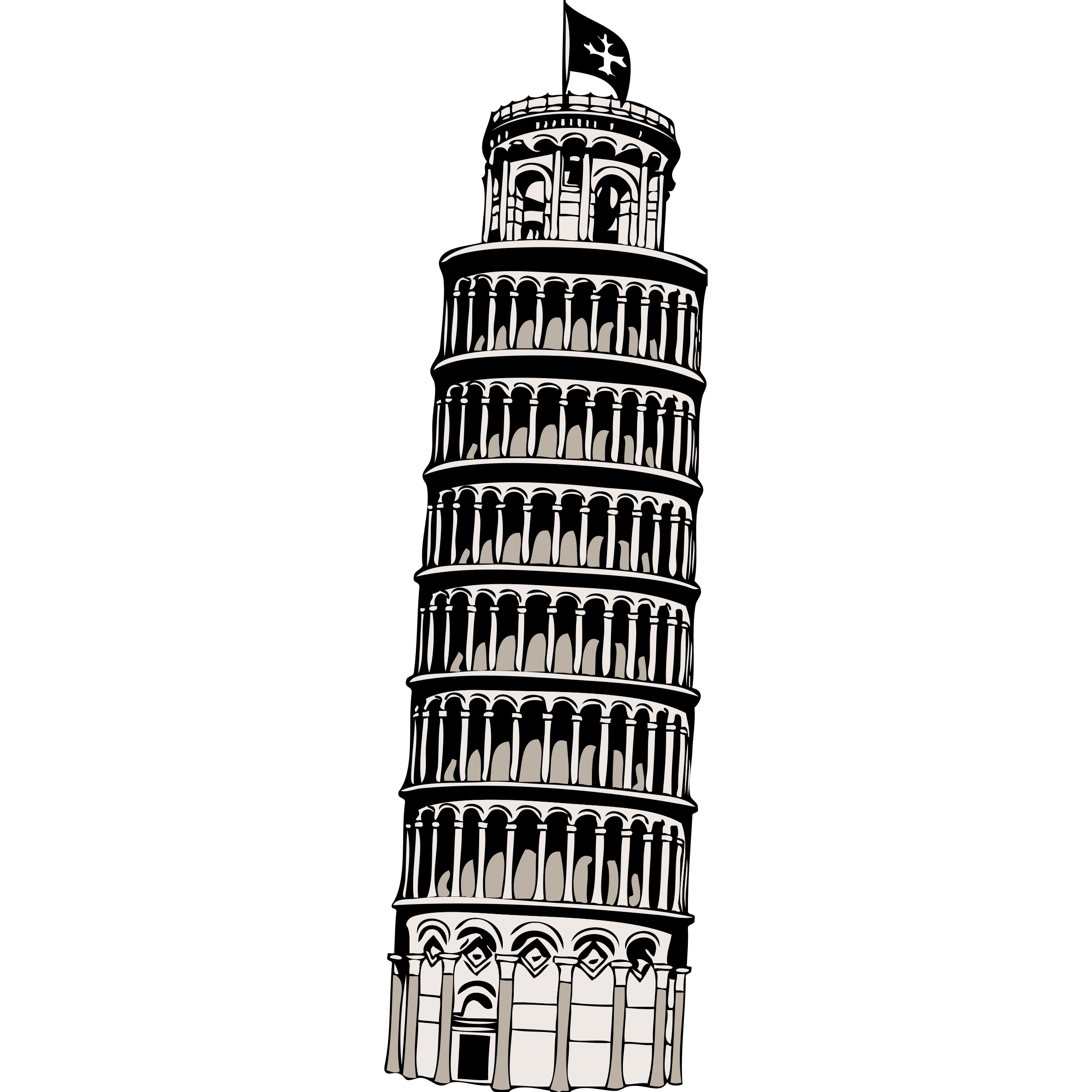 Free Clipart : Leaning tower of pisa - Pisa Tower PNG
