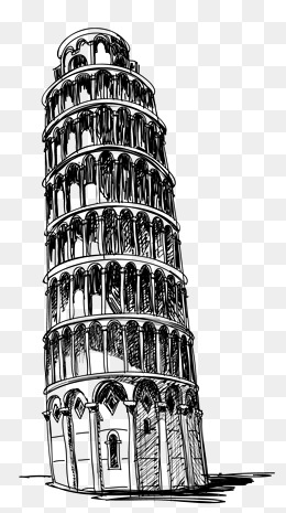 Hand painted lines Leaning Tower of Pisa, Hand Painted, Line, Leaning Tower  Of. PNG - Pisa Tower PNG